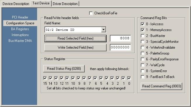 RapidDriver Online Help - Configuration Space